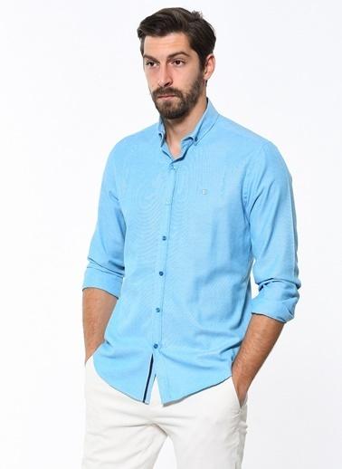 Avva Slim Fit Uzun Kollu Gömlek Turkuaz